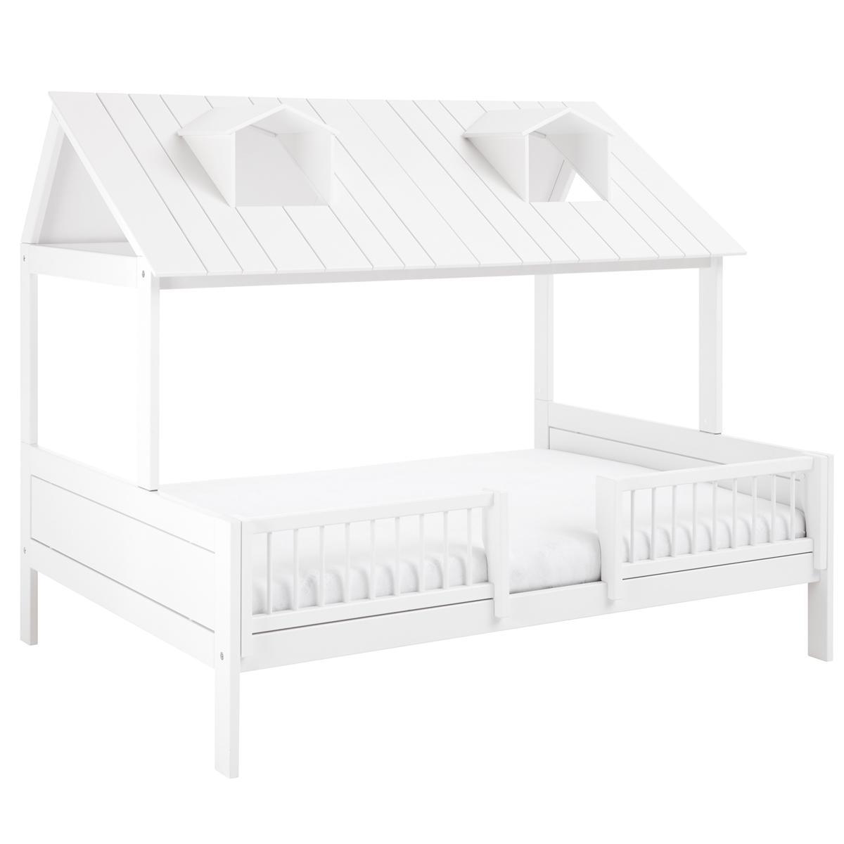Lit 140x200cm-sommier luxe BEACH HOUSE  Lifetime blanc