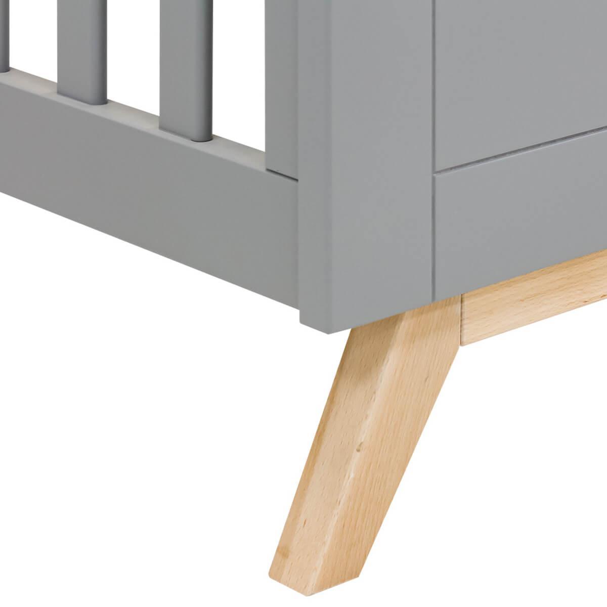 Lit 60x120cm FENNA Bopita gris-naturel