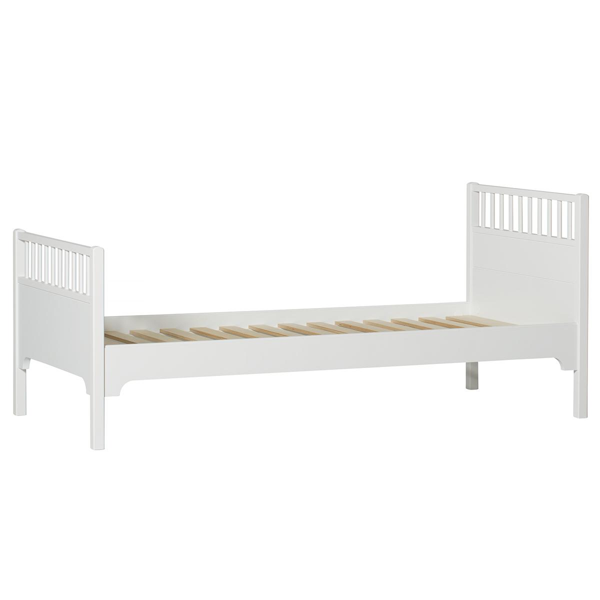 Lit 90x200 cm SEASIDE Oliver Furniture blanc