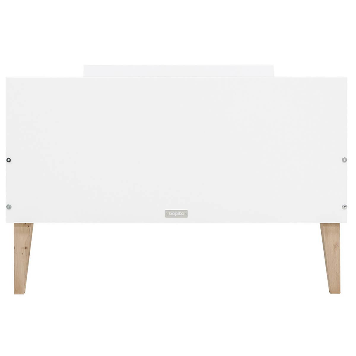 Lit 90x200cm INDY Bopita blanc-naturel