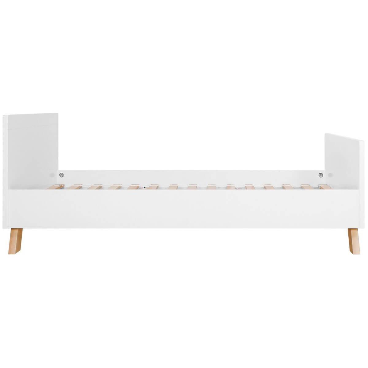 Lit 90x200cm LISA Bopita blanc-naturel