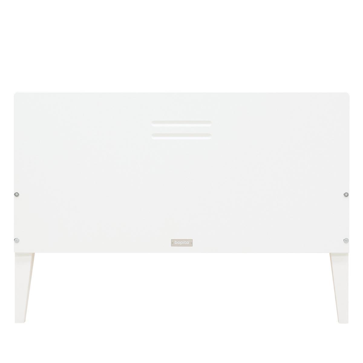 Lit 90x200cm LOCKER Bopita blanc