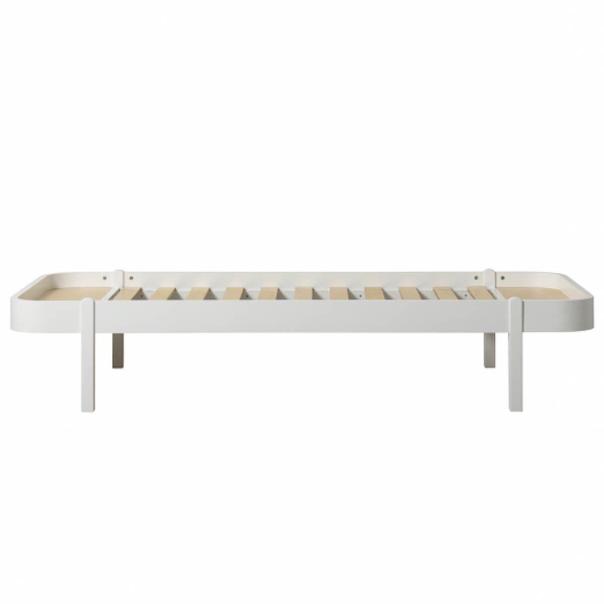 Lit 90x200cm WOOD LOUNGER Oliver Furniture blanc