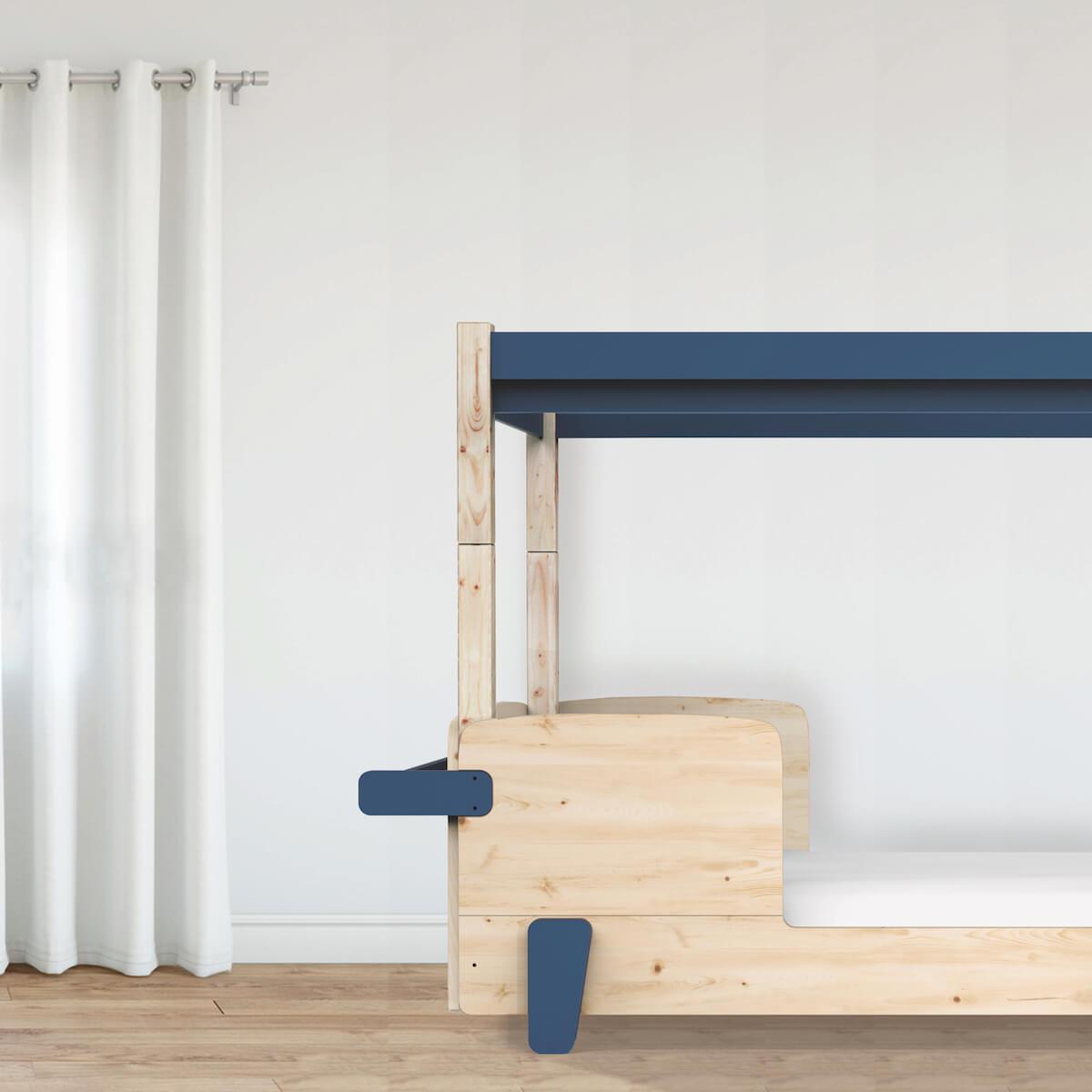 Lit baldaquin 90x190cm DISCOVERY Mathy by Bols bleu atlantic