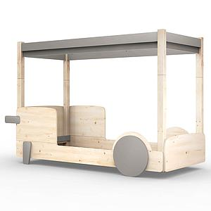 Lit baldaquin 90x190cm DISCOVERY Mathy by Bols taupe