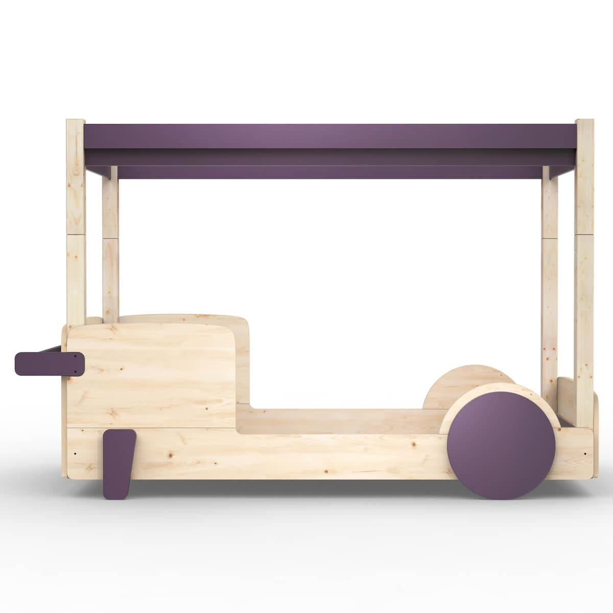 Lit baldaquin 90x190cm DISCOVERY Mathy by Bols violet cuberdon