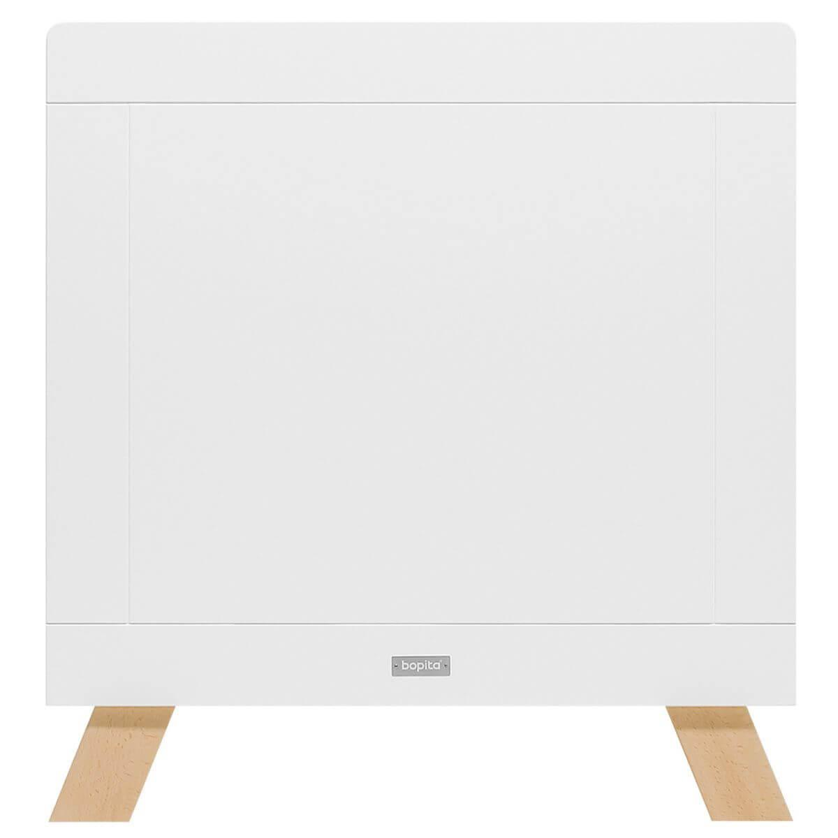 Lit banquette 70x140cm LISA Bopita blanc-naturel