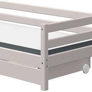 Lit banquette 90x200cm 2 tiroirs CLASSIC Flexa grey washed