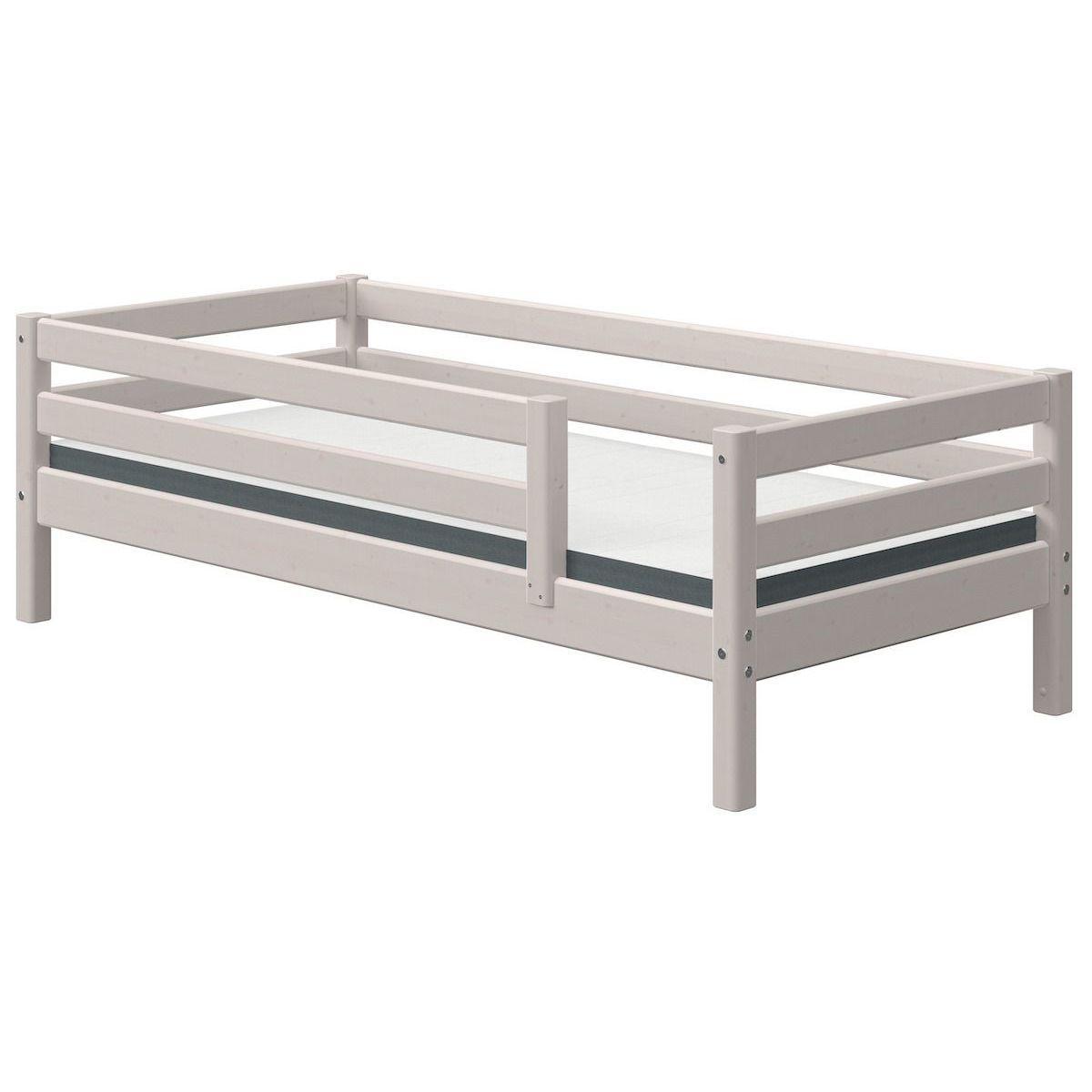 Lit banquette 90x200cm barrière de sécurité CLASSIC Flexa grey washed