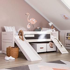 Lit banquette 90x200cm sommier LUXE CABIN BED Lifetime greywash