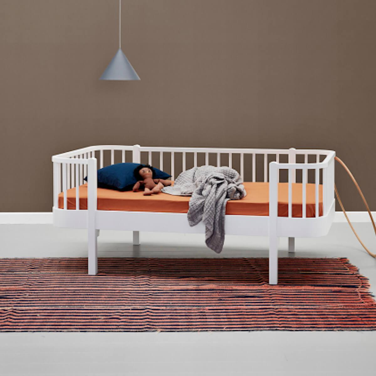 Lit banquette évolutif 90x160cm WOOD Oliver Furniture blanc