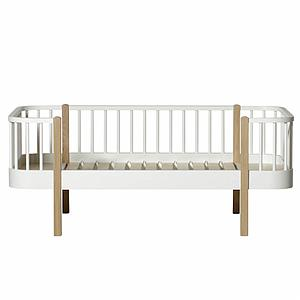 Lit banquette évolutif 90x160cm WOOD ORIGINAL Oliver Furniture blanc-chêne