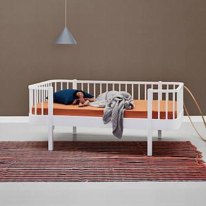 Lit banquette évolutif 90x160cm WOOD ORIGINAL Oliver Furniture blanc