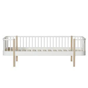 Lit banquette évolutif 90x200cm WOOD Oliver Furniture blanc-chêne