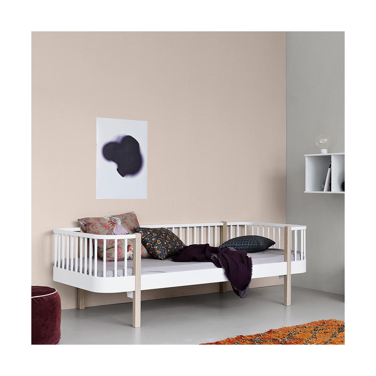 Lit banquette évolutif 90x200cm WOOD Oliver Furniture blanc
