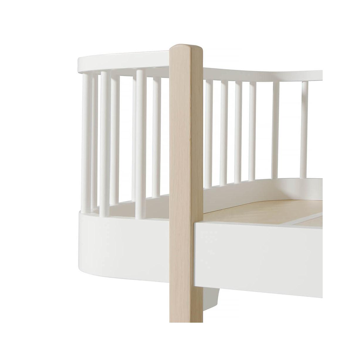 Lit banquette évolutif 90x200cm WOOD ORIGINAL Oliver Furniture blanc-chêne