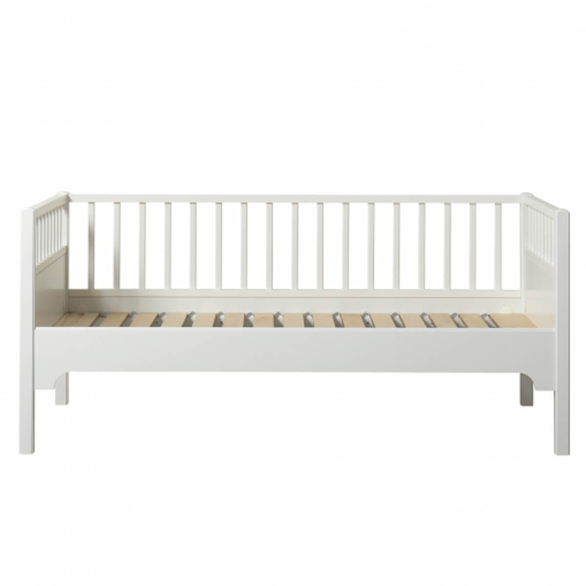 Lit banquette junior 90x160cm SEASIDE CLASSIC Oliver Furniture blanc