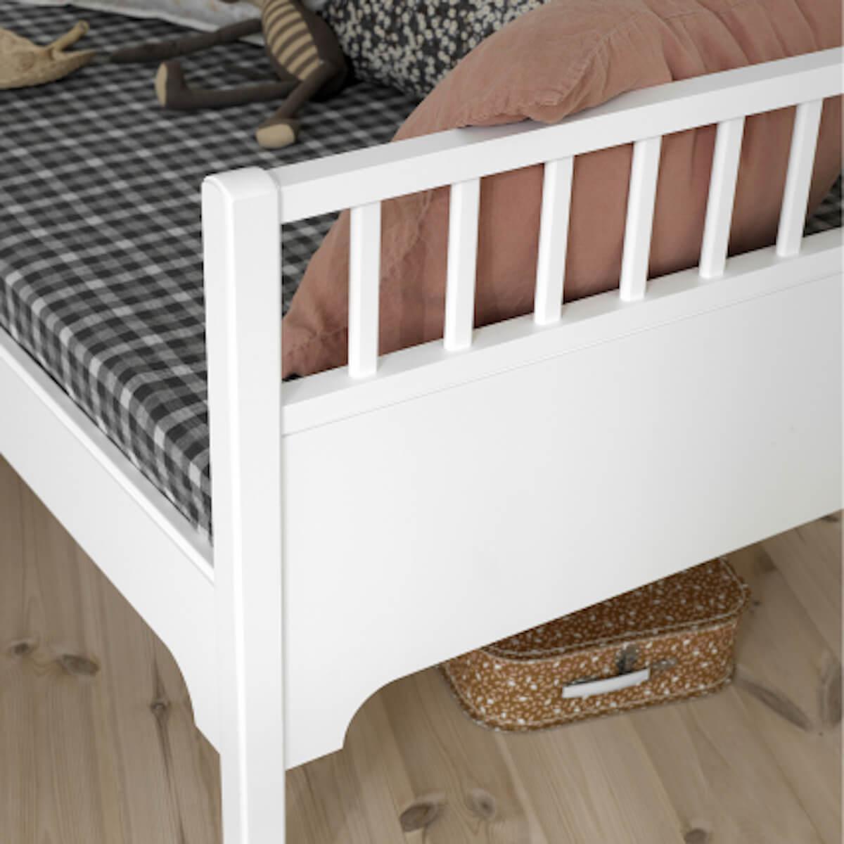 Lit banquette junior 90x160cm SEASIDE Oliver Furniture blanc