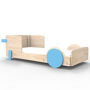 Lit bas 90x190cm DISCOVERY Mathy by Bols bleu azur