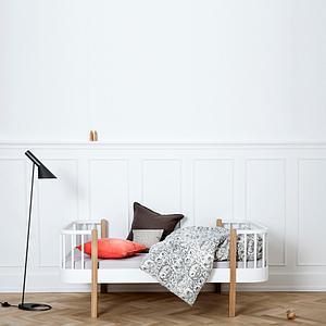 Lit bas évolutif 90x160cm WOOD ORIGINAL Oliver Furniture blanc-chêne