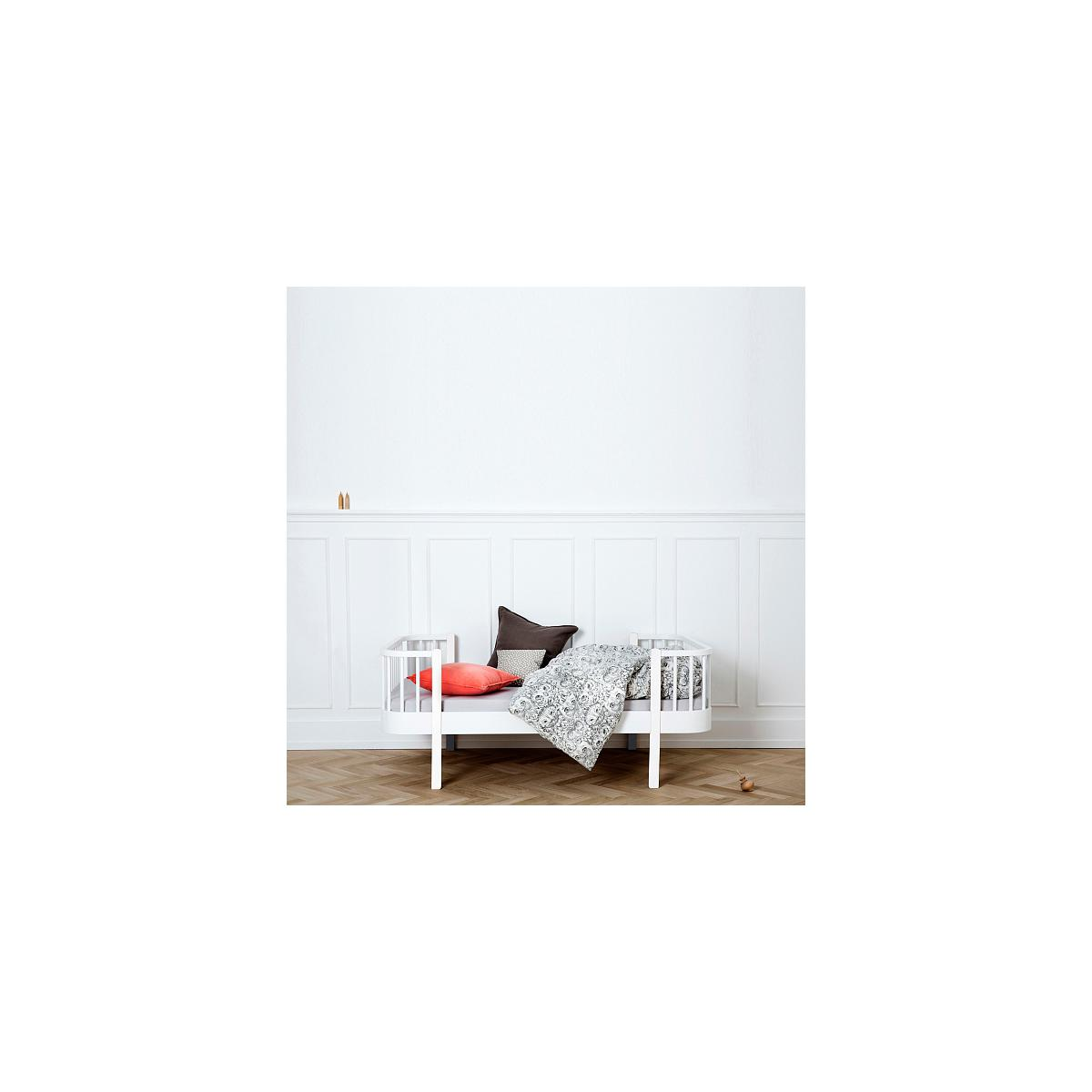 Lit bas évolutif 90x160cm WOOD ORIGINAL Oliver Furniture blanc