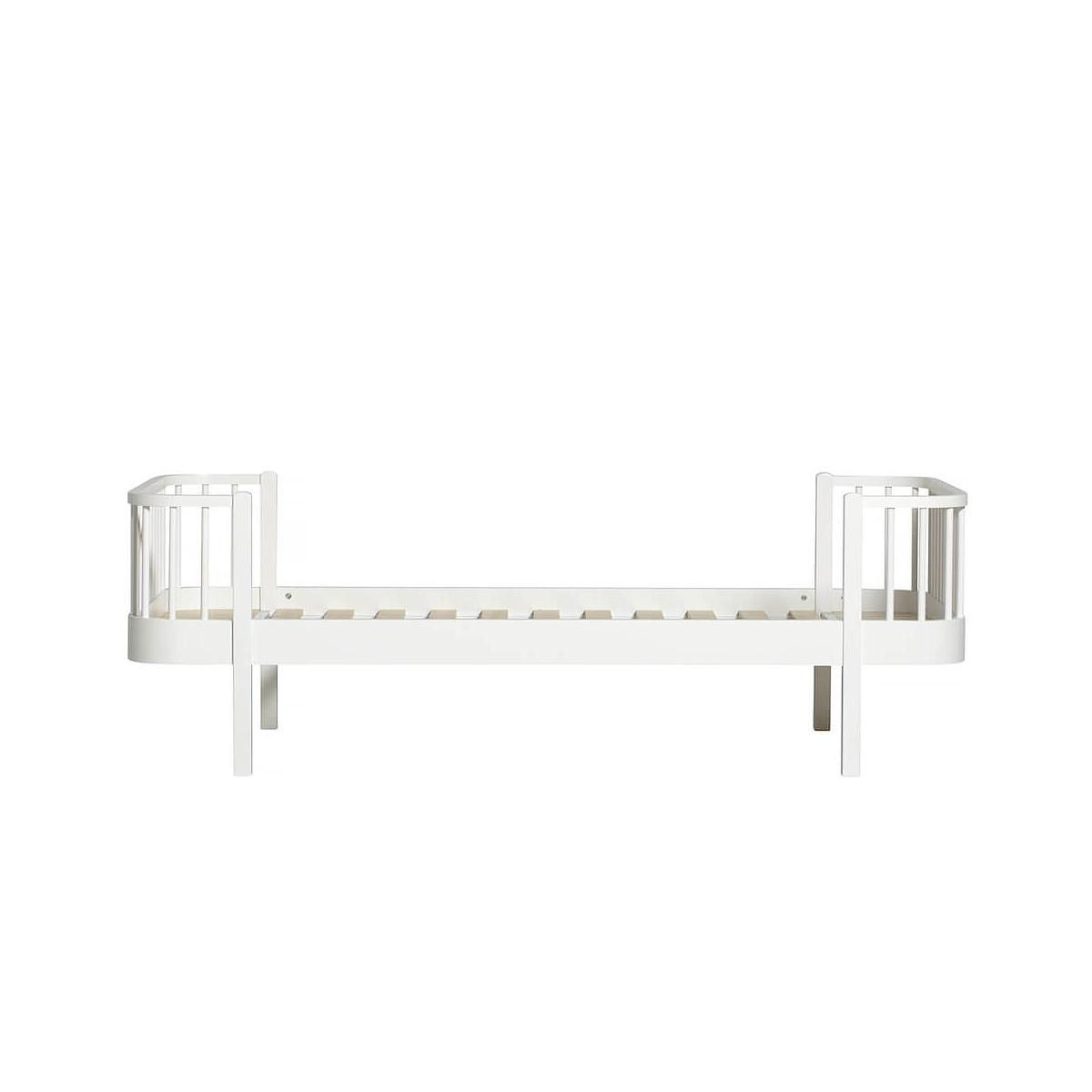 Lit bas évolutif 90x200cm WOOD Oliver Furniture blanc