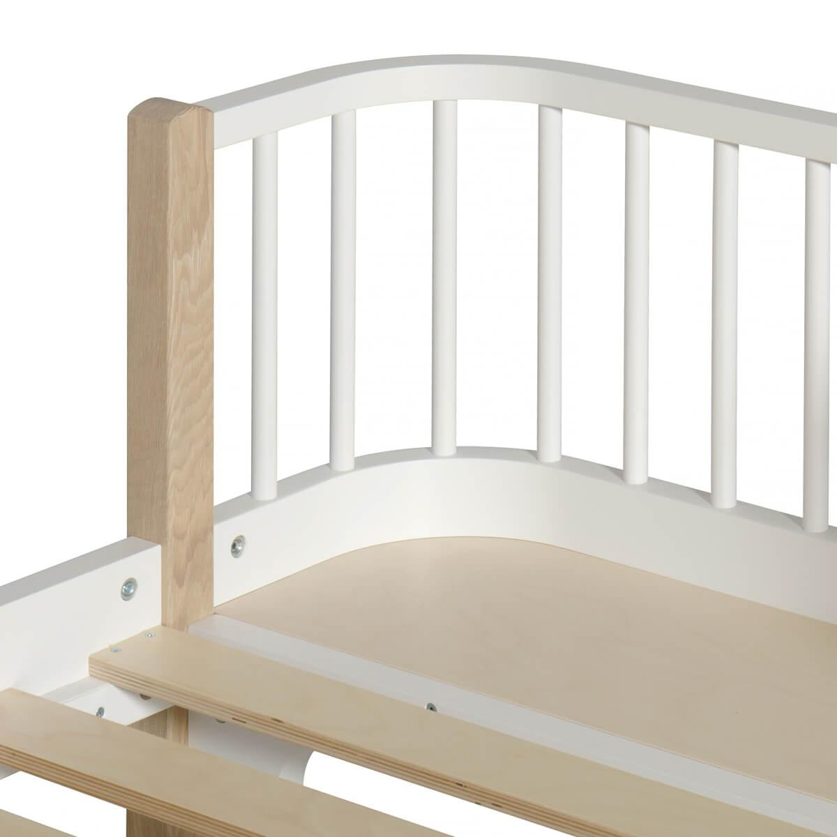 Lit bas évolutif 90x200cm WOOD ORIGINAL Oliver Furniture blanc-chêne