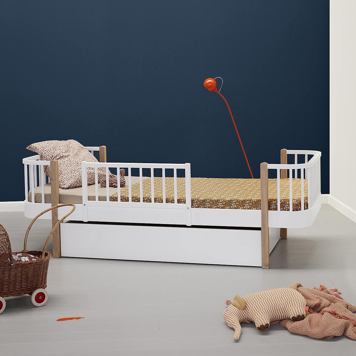 Lit bas évolutif 90x200cm WOOD ORIGINAL Oliver Furniture blanc