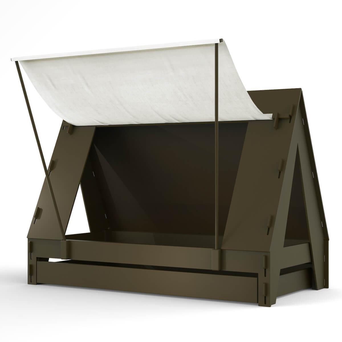 Lit bas-tiroir 90x200cm TENTE Mathy by Bols artichaut