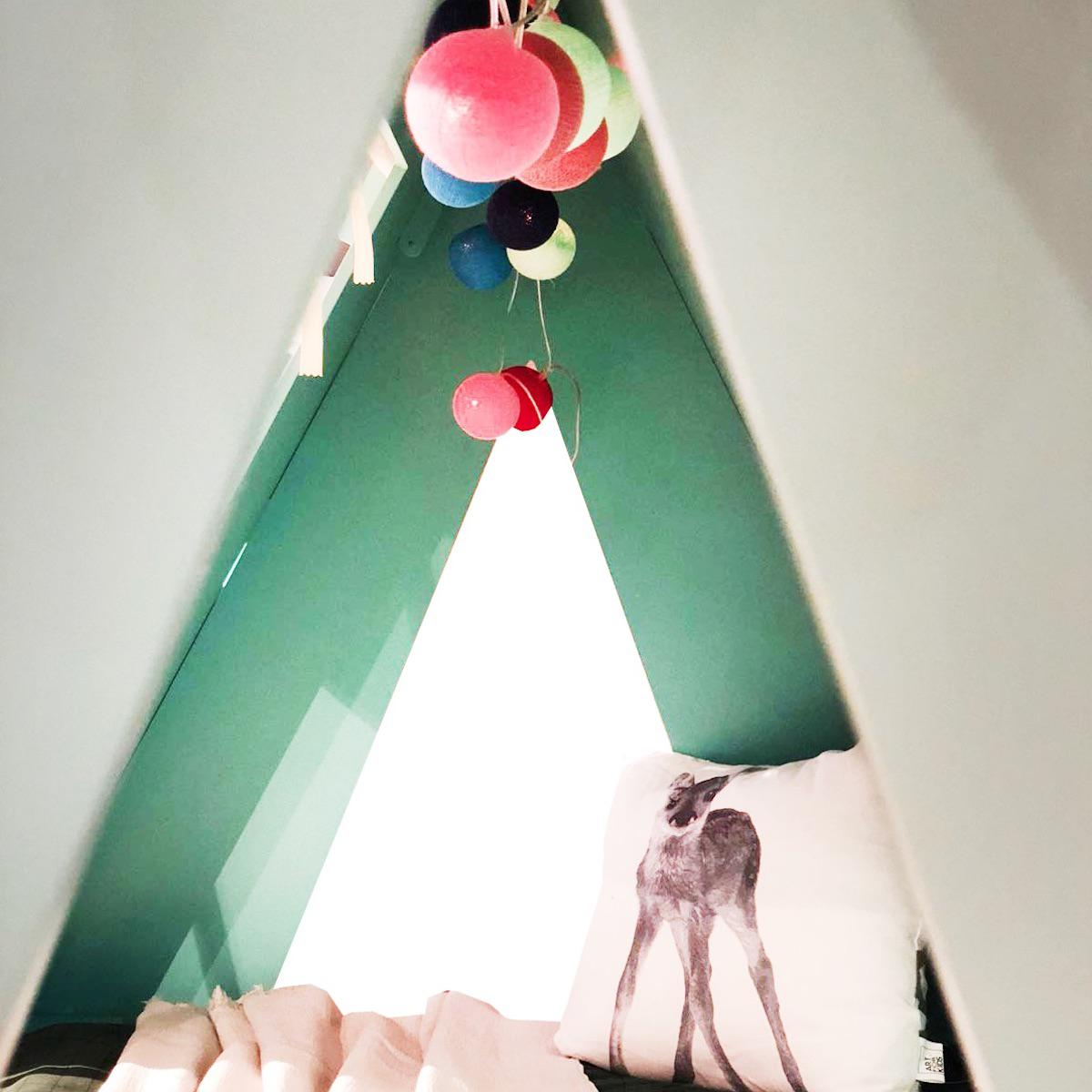 Lit bas-tiroir 90x200cm TENTE Mathy by Bols bleu atlantique