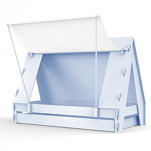Lit bas-tiroir 90x200cm TENTE Mathy by Bols bleu poudré