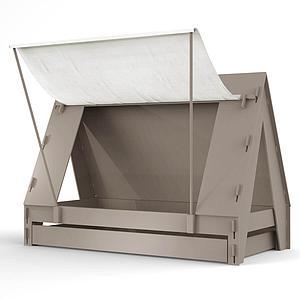 Lit bas-tiroir 90x200cm TENTE Mathy by Bols lin