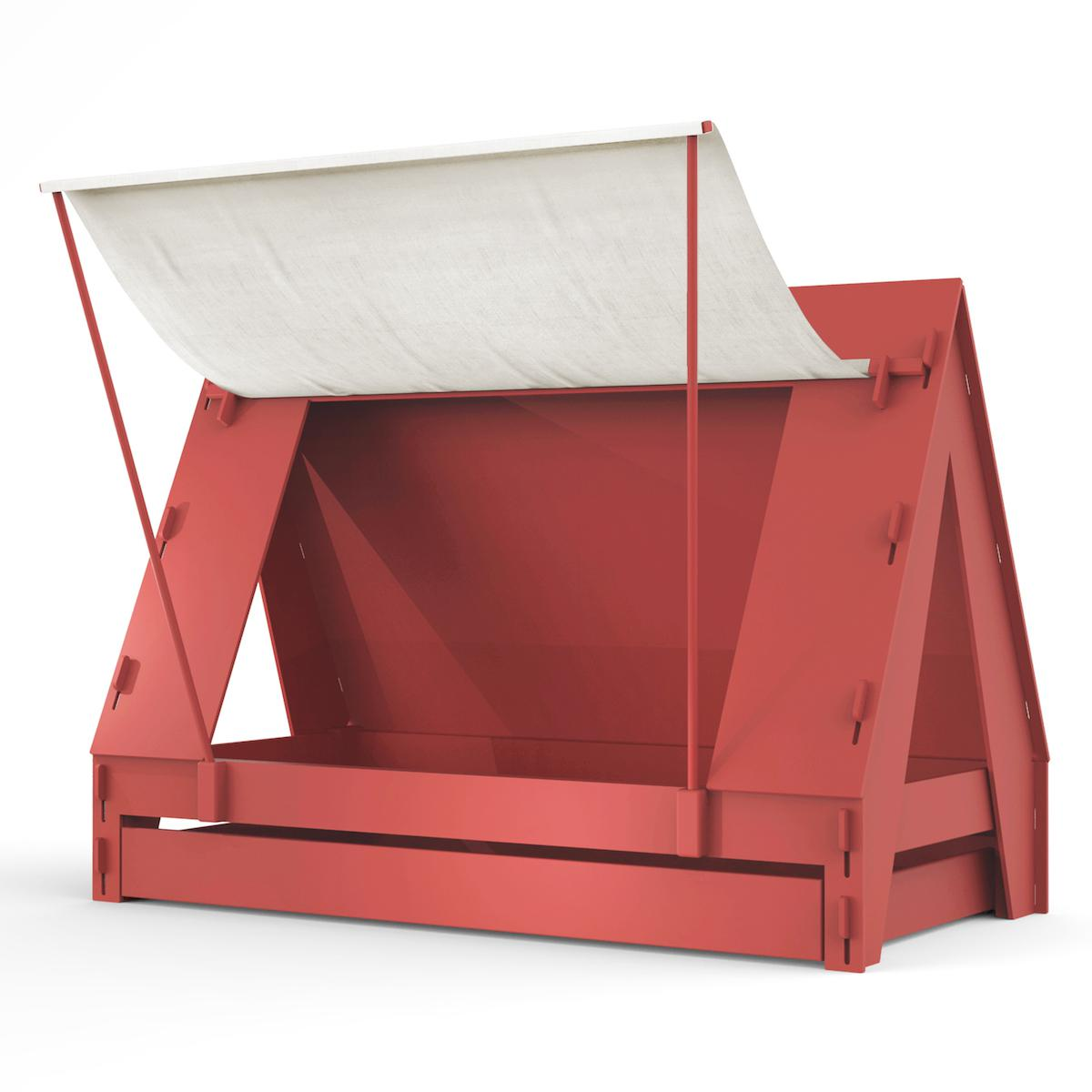 Lit bas-tiroir 90x200cm TENTE Mathy by Bols marsala