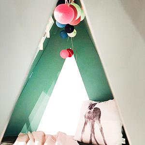 Lit bas-tiroir 90x200cm TENTE Mathy by Bols rose été