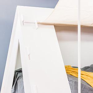 Lit bas-tiroir 90x200cm TENTE Mathy by Bols rose très clair