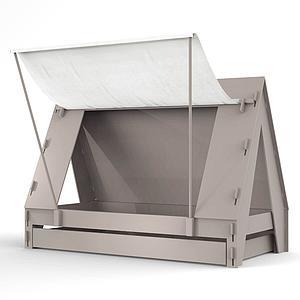 Lit bas-tiroir 90x200cm TENTE Mathy by Bols taupe