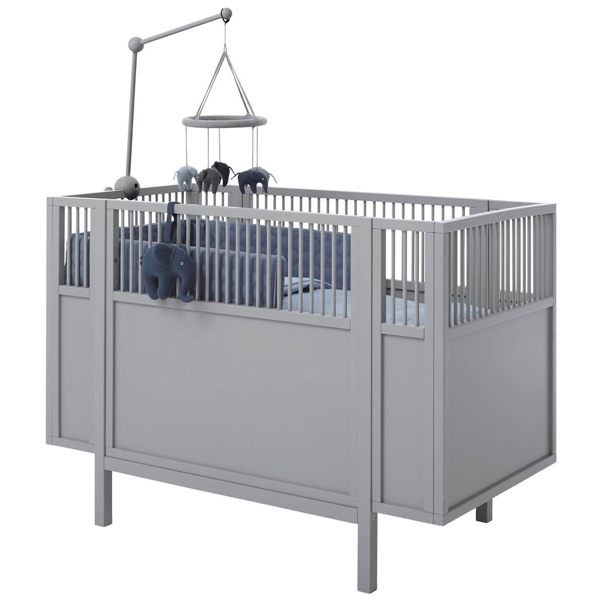 Lit bébé 60x120cm Lifetime gris