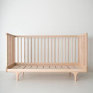 Lit bébé CARAVAN Kalon Studios frêne huilé