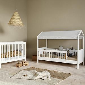 Lit bébé évolutif 68x130cm SEASIDE LILLE+ BASIC Oliver Furniture blanc