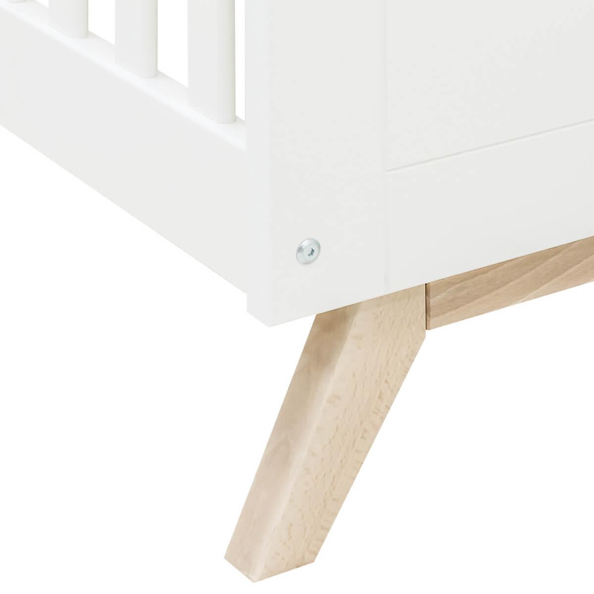 Lit bébé évolutif 70x140cm FENNA Bopita blanc-naturel