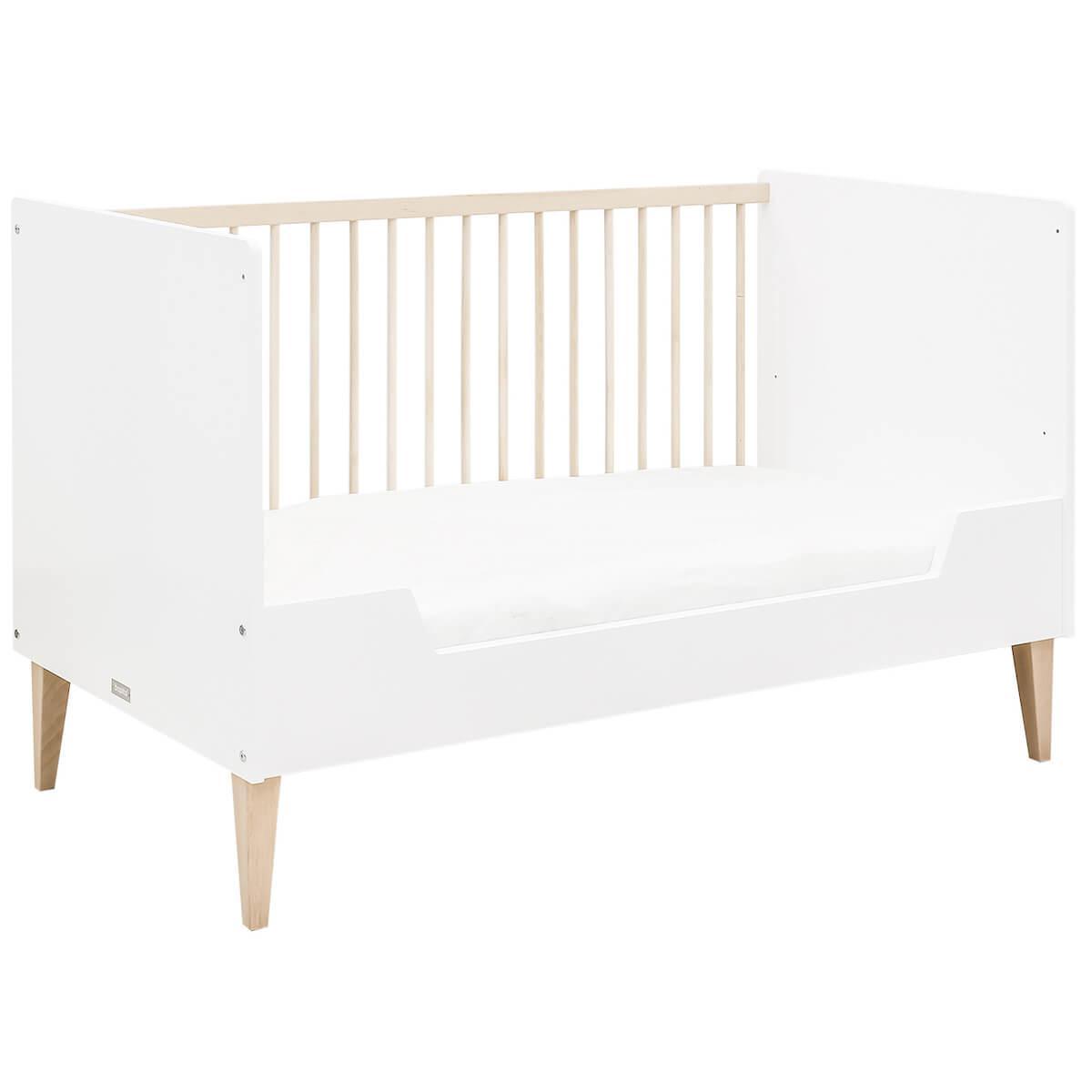 Lit bébé évolutif 70x140cm INDY Bopita blanc-naturel