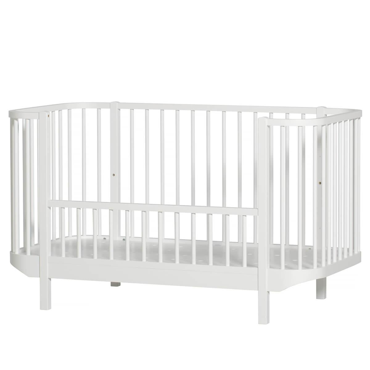 Lit bébé évolutif 70x140cm WOOD Oliver Furniture blanc