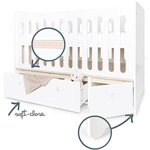Lit bébé évolutif hors façades tiroirs 70x140cm COLORFLEX