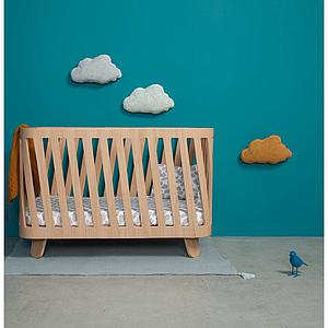 Lit bébé évolutif-matelas 90-120cm MUKA Charlie Crane oak
