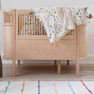 Lit bébé évolutif Sebra bois naturel
