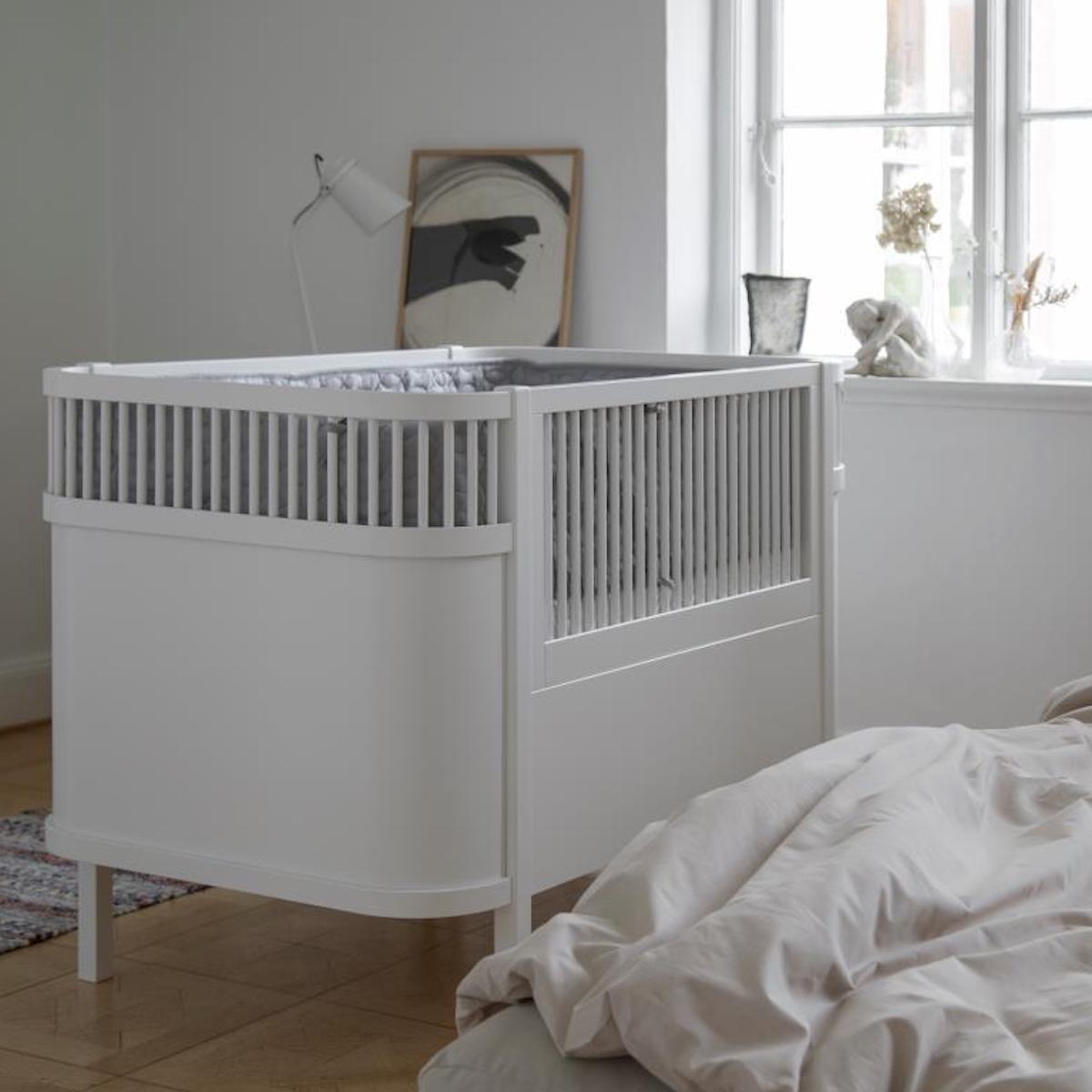 Lit bébé évolutif Sebra classic white