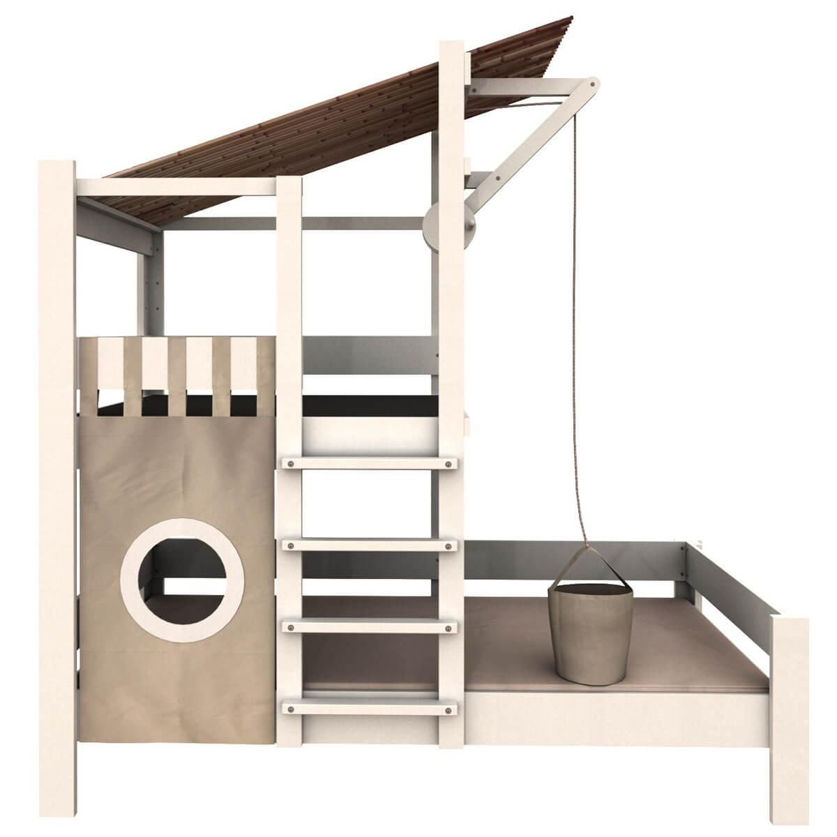 Lit cabane 90x200cm Bruno DESTYLE de Breuyn hêtre blanchi