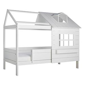 Lit cabane 90x200cm LAKE HOUSE 1 Lifetime blanc