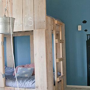 Lit Cabane superposés 90x200cm CANAL Dutchwood naturel