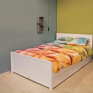 Lit enfant 140x200 cm tête de lit haute BOBBY Bopita blanc
